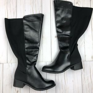 New! Lane Bryant Faux Leather Black Ridding Boots